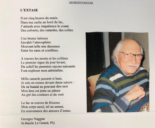 Poème de Monsieur Naggiar